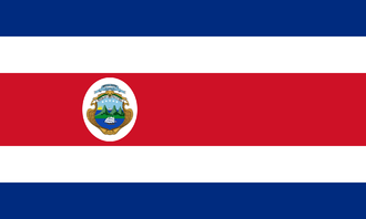 Flag of Costa Rica - Image: State Flag of Costa Rica (1906 1964)