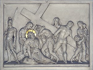 Stations of the Cross, 5, Notre-Dame, Geneva, ...