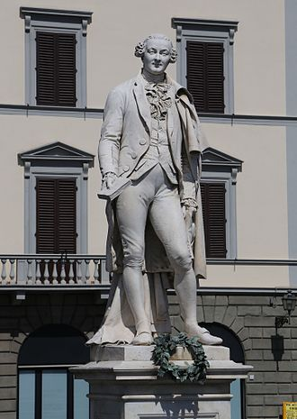 Monument to Carlo Goldoni - Marble Statue of Goldoni