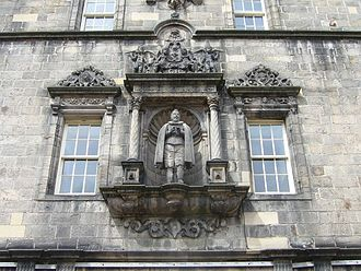 George Heriot -  Statue of George Heriot in the quadrangle of the school he founded.
