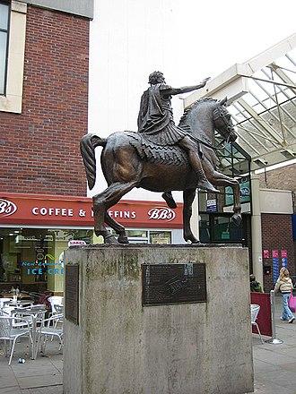 Glevum - Modern statue of Emperor Nerva in Gloucester. Nerva made Glevum a colonia.