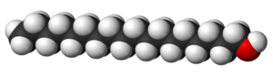 Stearyl alcohol - Image: Stearyl alcohol 3D vd W