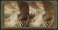Steel works, Pittsburgh, Pa., beam of hot iron in rolling mill, drawn out (00?) feet long, from Robert N. Dennis collection of stereoscopic views.png