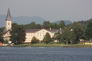 Ossiach Abbey - View from Lake Ossiach