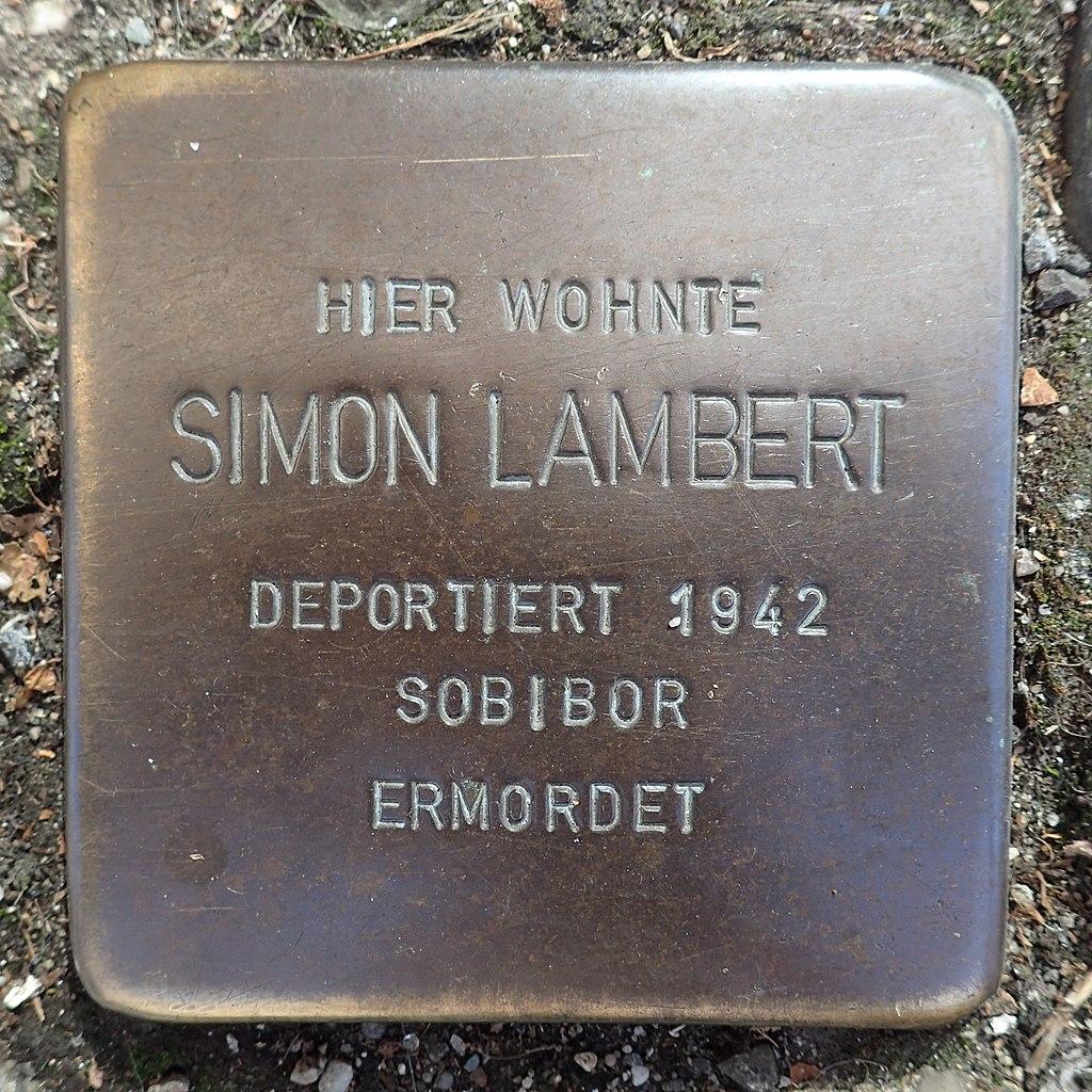 Stolperstein Andernach Wilhelmstraße 5 Simon Lambert