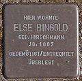 Stolperstein Arnstadt Karolinenstraße 2-Else Bingold.JPG
