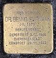 Stolperstein Badstr 64 (Gesbr) Benno Ehrmann.jpg