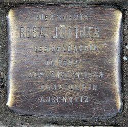 Photo of Rosa Jüttner brass plaque
