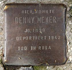Photo of Denny Meyer brass plaque