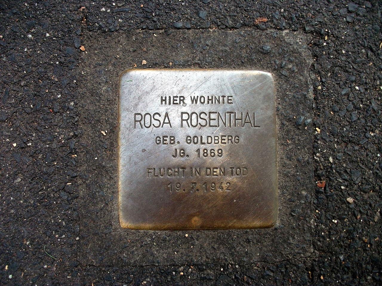 Stolperstein Rosa Rosenthal Rüngsdorfer Straße 4c Bonn.JPG