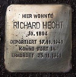 Photo of Richard Hecht brass plaque