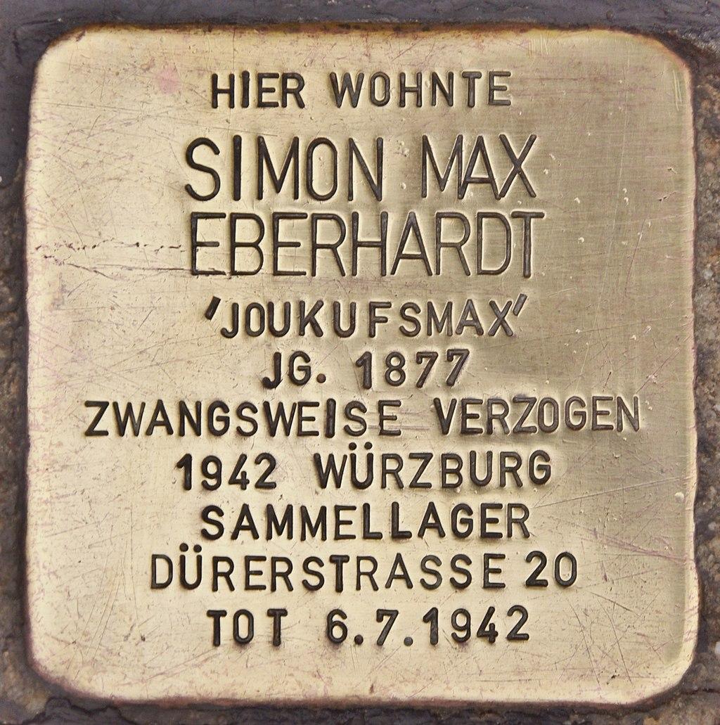 Stolperstein für Simon Max Eberhardt (Maßbach).jpg