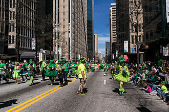 Saint Patrick's Day in the United States - Saint Patrick's Day parade in Atlanta, 2013.