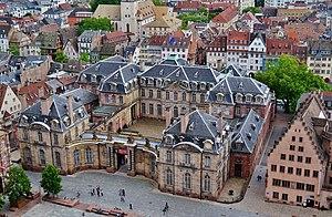 Palais Rohan, Strasbourg - Image: Straßburg Palais Rohan vom Münster 2