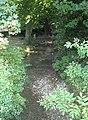 Stream with footbridge, Fownhope - geograph.org.uk - 532467.jpg