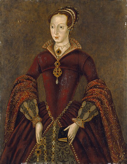 "Lady Jane Grey, whom Northumberland put on the English throne; he reminded his colleagues that ""this virtuous lady ... by ... our enticement is rather of force placed therein than by her own seeking and request."" Streathamladyjayne.jpg"