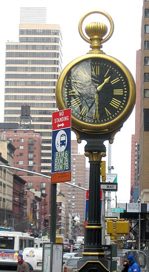 85th Street (Manhattan) - Sidewalk clock at East 85th Street and Third Avenue