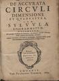 Sturm - De accurata circuli dimensione et quadratura, 1633 - 4721037.tif