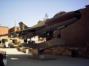 Sukhoi Su-7 - Egyptian Su-7BMK displayed in the Egyptian Military Museum in Cairo Citadel.