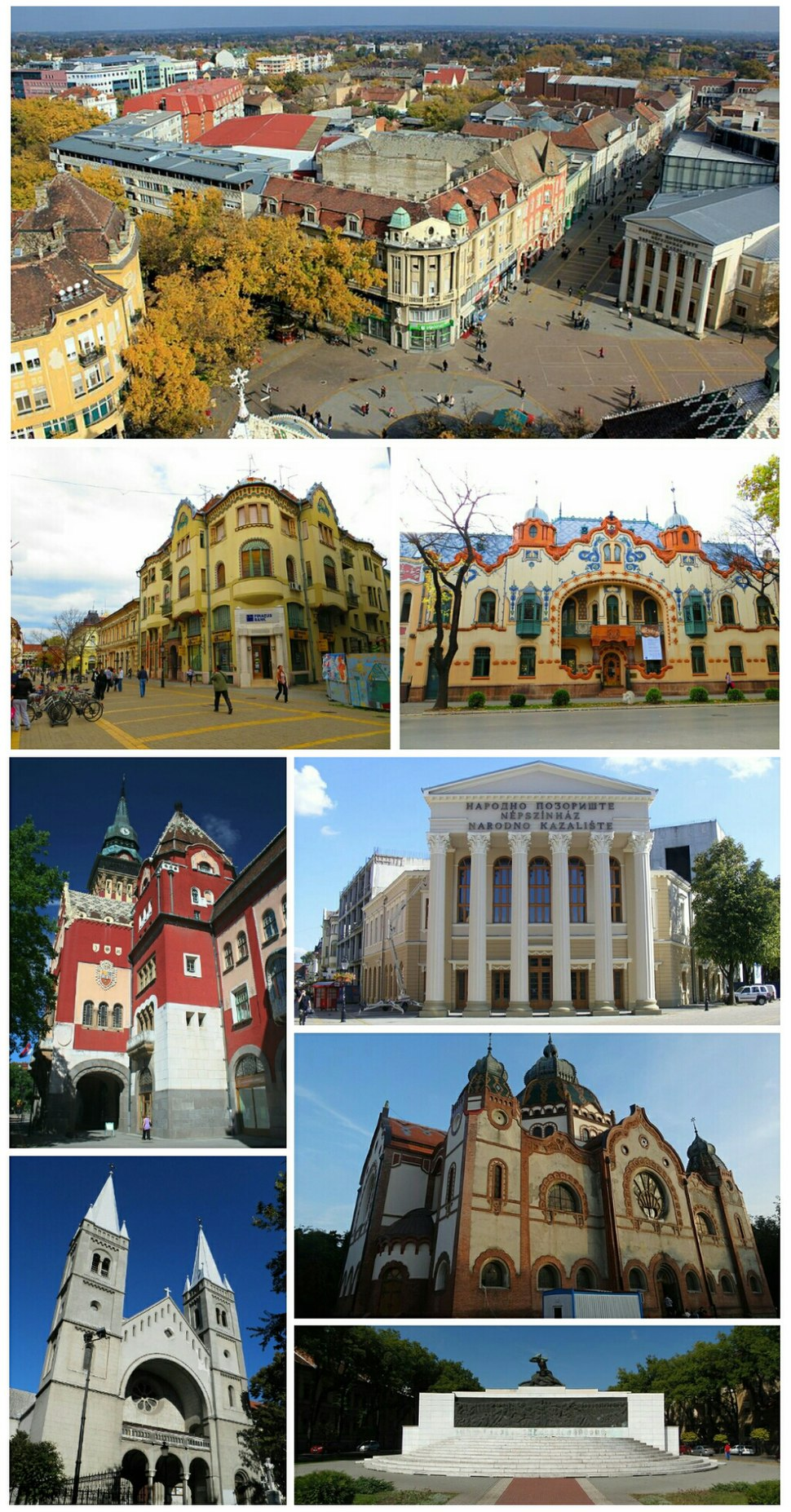 Subotica kolaž