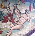 Suczawica (Sucevita), monastyr, fragment fresku, stworzenie Ewy.jpg