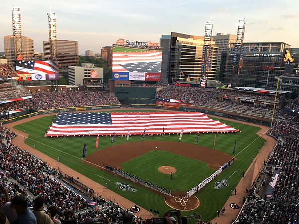 SunTrust Park prior to its first regular-season game SunTrust Park Opening Day 2017.jpg