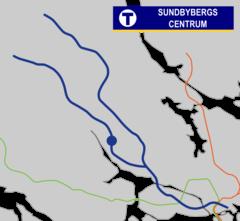 Sundbybjergs centrum Tunnelbana.png