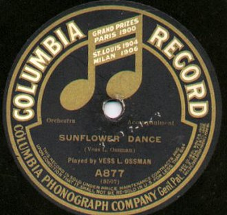 1910 in music - Ragtime banjo by Vess L. Ossman Columbia Records, 1910