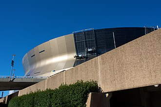Mercedes-Benz Superdome - Construction workers replace the Superdome's 30 plus year-old siding