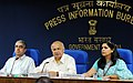 Sushil Kumar Shinde holding a press conference to present the Report Card of the Ministry of Home Affairs for the month of August, 2012, in New Delhi. The Secretary (Border Management), Ministry of Home Affairs.jpg