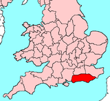 Ancient extent of Sussex.