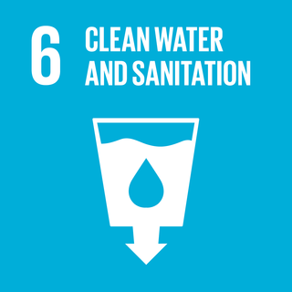 The sixth of 17 Sustainable Development Goals calling for clean water and sanitation for all people by 2030