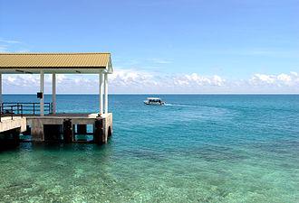 Swallow Reef - Station Lima jetty.