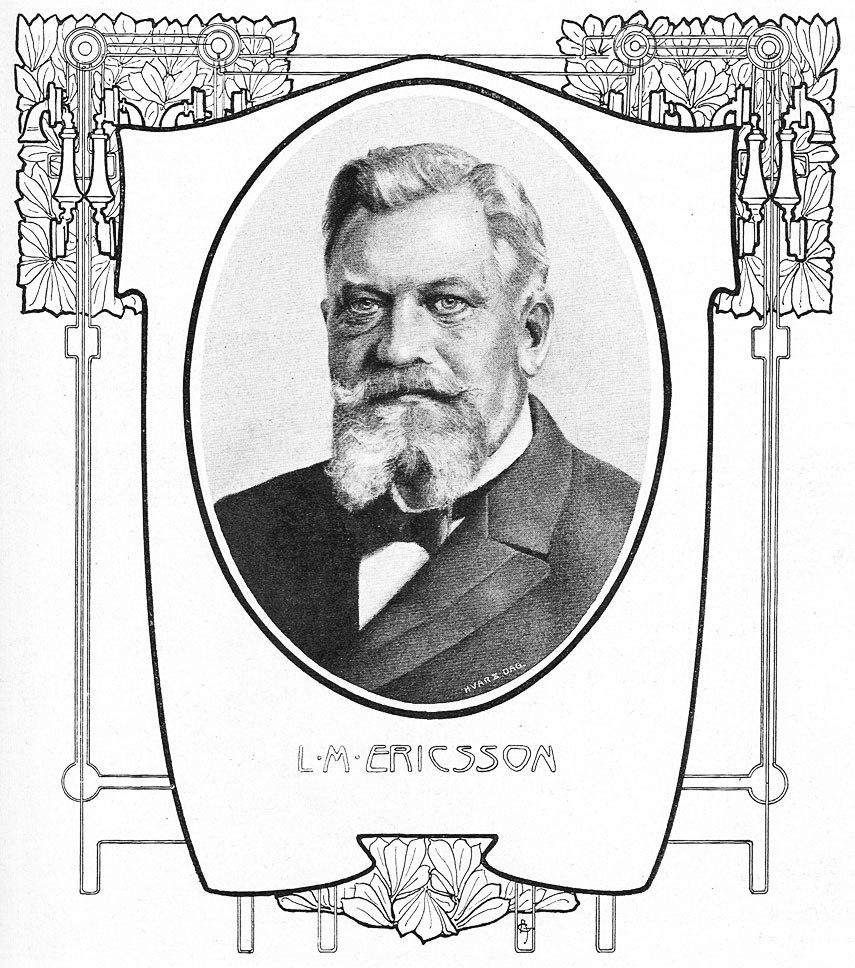 Swedish inventor Lars Magnus Ericsson