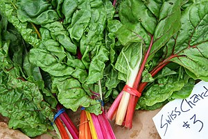 Chard - Swiss chard for sale at an outdoor market