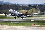 Swiss International Air Lines Airbus A340-313 HB-JMC (27000499721).jpg