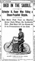Sylvester H Roper Died in the Saddle Boston Daily Globe 2 June 1896.png