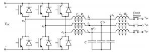 Synchronverter - Figure 2. Power part of a synchronverter