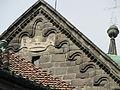 Třebíč, bazilika, detail štítu.jpg
