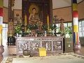 Tịnh Xá Trung Tâm, tượng Phật khắc trên gỗ.JPG