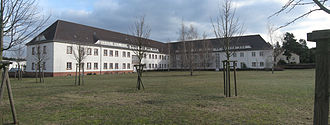 Concentration Camps Inspectorate - The T-building in Sachsenhausen concentration camp, home of the Concentration Camps Inspectorate from 1938