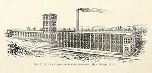 Haw River, North Carolina - T. M. Holt Manufacturing Company, Haw River, North Carolina, 1897
