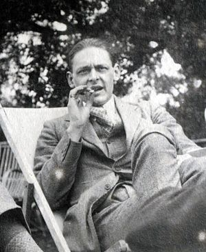 The Love Song of J. Alfred Prufrock - T. S. Eliot in 1923, photographed by Lady Ottoline Morrell