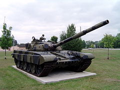 Czołg T-72 w Base Borden Military Museum