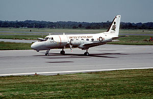 Grumman Gulfstream I - A U.S. Navy TC-4C Academe from VA-42 at NAS Oceana, 1989.