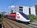 TGV estival pour Bourg-St-Maurice quittant Chambéry (août 2019).JPG