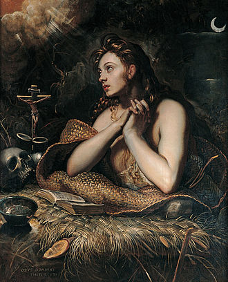 Mary Magdalene - The Penitent Magdalene by Domenico Tintoretto c. 1598