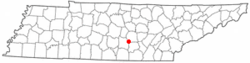 Location of Viola, Tennessee