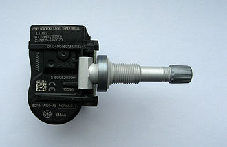 Tire-pressure monitoring system - direct TPM sensor fitted in valve system, manufacturer VDO