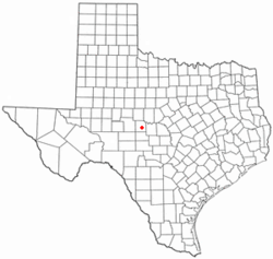 Location of Eden, Texas